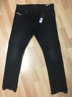 Mens Diesel TEPPHAR RIPPED Stretch Denim 084GA BLACK Slim W31 L30 H6 RRP£170