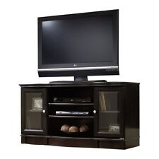 """50"""" TV Stand Media Cabinet Storage Console Home Entertainment Center Wood Glass"""