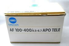 Minolta AF APO Tele Zoom 100-400mm F/4.5-6.7 Lens For Sony A from Japan #A32