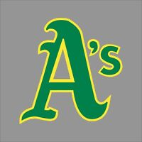 Oakland Athletics #2 MLB Team Logo Vinyl Decal Sticker Car Window Wall Cornhole