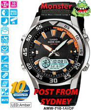 AUSSIE SELER CASIO FISHING WATCH TIDE GRAPH AMW-710-1AV AMW710 12 MONTH WARRANTY