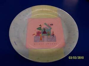 """Shower Celebration Bridal Wedding Pink Lavender Party 10.5"""" Plates"""