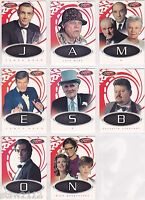 JAMES BOND 2002 40TH ANNIVERSARY GAME CARDS COMPLETE COMMON SET (8)