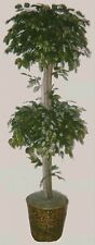 Artificial 7' Ficus Tree Plant Basket Topiary Bonsai Palm Flower Floral Ball Pot