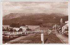 Vintage RPPC Postcard Locks Fort Augustus Scotland UK