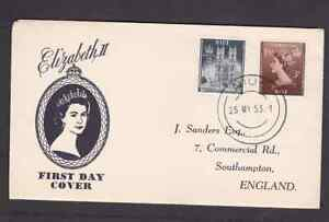 Niue 1953 FDC 1st day cover to England QE II Coronation Sanders cachet