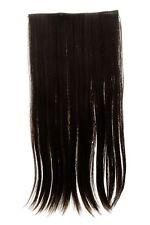 Haarteil breit Haarverlängerung 5 Clips glatt zweifarbig Dunkelbraun-Goldbraun
