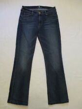 Womens 28 7 For All Mankind The Skinny Boot Cut Blue Jeans Seven Meas 27x28