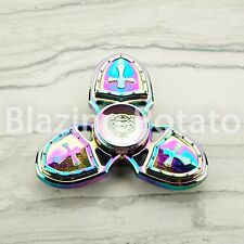RAINBOW Hand Spinner Tri Spinners Figet Desk Toy Focus EDC ADHD -NEW- ☆USA☆ #B