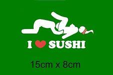 i love sushi Aufkleber Sticker AUTO Heckscheibe Tuning Motorhaube FUN BUB JDM 1x