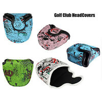 PU Leather Mallet Putter Cover Golf Putter Headcover Golf Club Heads Accessories