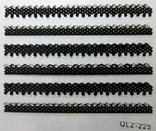 Accessoire ongles : nail art - Stickers autocollants , bandes noires
