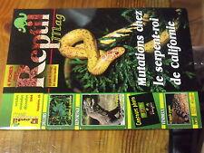 4µ? Revue Reptil Mag n°18 Lampropeltis Plantes TerrariumCrotale pygmée