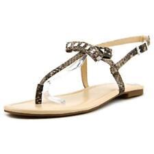 Calzado de mujer sandalias con tiras planos de lona