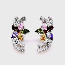 Markenlose echte Ohrschmuck Granate-Butterfly-Verschluss