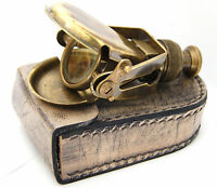 Dollond London Pocket Monocular  with Leather Box - Brass Pocket Telescope