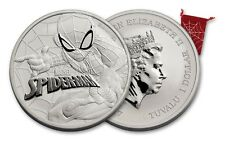 2017 Perth Mint Marvel Spider-Man 1 oz. Silver $1 Coin In Spider Web Pouch