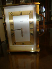 VINTAGE LARGE BRASS SWIZA CLOCK