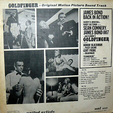 OST GOLDFINGER I^ PRESS  LP  ITALY 1964 SEAN CONNERY - BOND 007 -SHIRLEY BASSEY