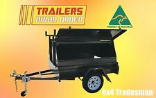 6x4 Tradie Trailer Single Axle - Australian Made Trailer |600mm Tradesman Canopy