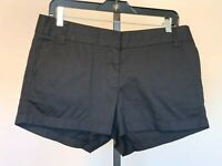 NWT New Womens J. Crew Chino Black Shorts sz 6 Cotton