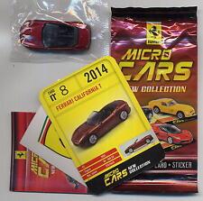 Micro Cars 2015 FERRARI California T #08 +card+sticker+bag+bpz 1/100 Kyosho MIB