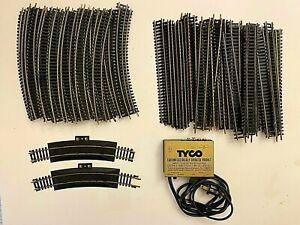 Lot of HO Code 75 Brass & Nickel Tracks w/ Power Source Tyco