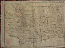 1922 LARGE AMERICA MAP ~ WASHINGTON SHOWING RAILROADS CITIES ~ RAND MCNALLY