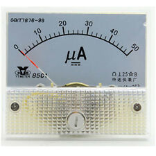 DC 50μA Ampmeter Current AMP Analog Panel Meter Ammeter Gauge 0-50μA 63.8x56mm