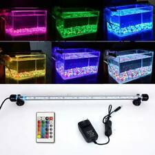 Aquarium Fish Tank LED Submersible Light RGB White Blue Light Bar Lamp Lighting