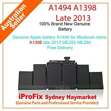 Genuine Apple battery A1494 for Macbook retina A1398 late 2013 ME293 ME294