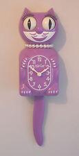 Kit Cat Clock, Orchid Colour Ltd Edition Lady Cat Pendulum Tail Wall Clock