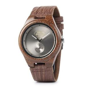 Leather Strap Wrist Wood Watch extremely Chronograph Womens Wooden Soca Watch Co