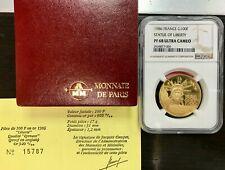 100 Francs Gold Liberty 1986 NGC Ms 68 Ultra Cameo - Rare Quality