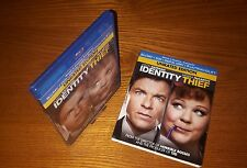 IDENTITY THIEF 2-disc Unrated Blu-ray US import region a free rare OOP slipcover