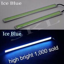 2x Ice Blue COB Car LED Lights 12V For DRL Fog Driving Lamp Waterproof 17cm
