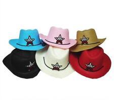4 KIDS ASST COLOR COWBOY HAT W  USA STAR child headwear childrens hats cowgirl