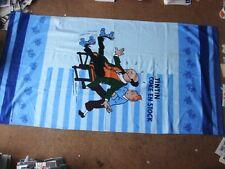 Tintin - Rouge Mer Requins ( Coke en Stock ) Plage Serviette - Rare