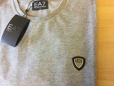 Ea7 Original Emporio Armani Escudo Camiseta Gris L Grande 42/44 para hombre RRP £ 65 BNWT