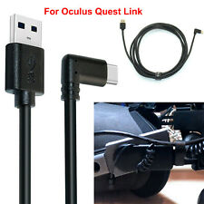 10Ft Elbow Charging Cable Usb 3.1 Gen1 Usb-A To Type-C For Oculus Quest Link