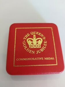 The Queens Golden Jubilee commemorative medal royal mint in original box