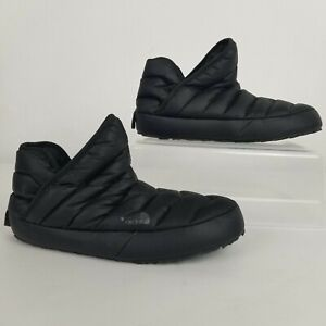 North Face Thermoball Puffer Booties Cabin Tent Slippers Womens 11 Black