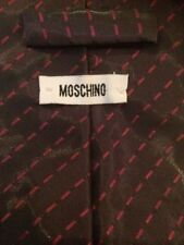 Moschino Shimmery Purple Patterned Tie : 80% Nylon 20% Polyester Made In Italy