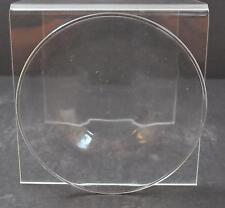 "Vintage No Trim Clear Glass Salad Bread Butter Plate Platter 7 5/8"" GD31"