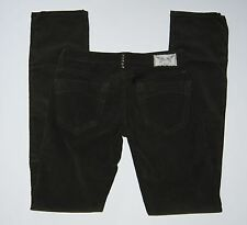 ROBINS JEANS Brown MARILYN Thin Wale Corduroy Jeans Size 26 $218 NWT