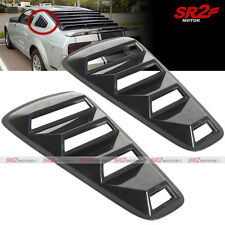 ABS Black 1/4 Side Vent Window Louver Pair Trim fits 05-14 Ford Mustang Coupe