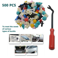 500PCS Car Trim Body Clips Kit Rivet Retainer Door Panel Bumper Plastic Fastener