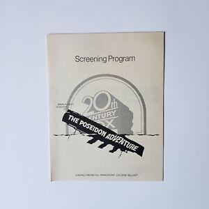 Vintage Poseidon Adventure Movie Screening Program (1972) Gene Hackman