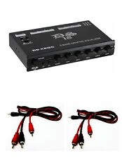 DS-KEQ5 5 Band Graphic Equalizer Six Channel/5 Volt with 2 FREE 3FT RCA Cables
