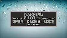 Sticker decal macbook car airplane aircraft airport pilot warning only permitted